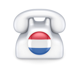 Retro telephone with dutch flag.