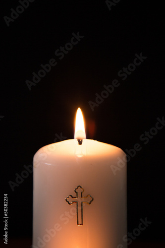 Catholic candle burning