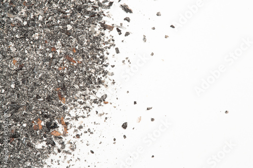 Close up of ash with copy space