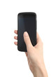 Woman hand touching a mobile phone screen with her thumb