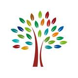 Vector Logo colorful tree