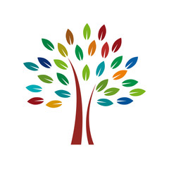 Vector Logo colorful tree