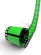 Blanko Filmrolle Grün 03