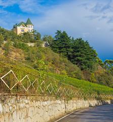 Crimean landscape near Yalta city at fall season.