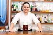 Bartender offering you a beer