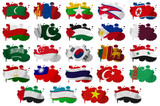 Asia countries flag blots Part 2