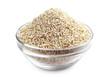 Pearl barley in glass bowl