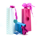 Three coulourful gift bags