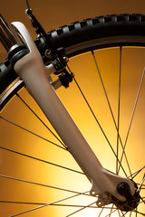 bicycle wheel with suspension fork