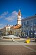 Vilnius oldtown street in sunny day