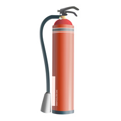 Realistic extinguisher isolated on white. Vector design.