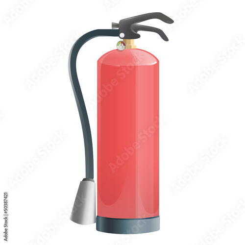 Extinguisher isolated on white. Vector design.