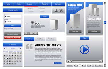 Blue Business Web Design Elements Version 2