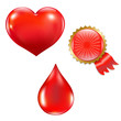 Collection With Blood Drop And Heart