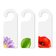 Do Not Disturb Sign With Flowers