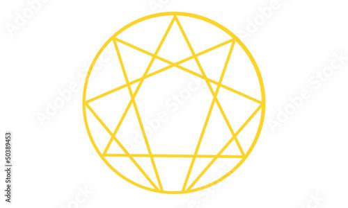 Ennéagramme jaune