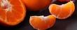 Kleine Mandarinenstücke