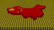 China map flag with oil barrels illustration