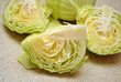 Quartered Green Cabbage