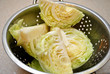 Cut Cabbage in a Strainer