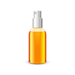 Bottle With Spray Orange Yellow: Raster Version
