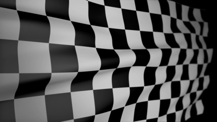 Checkered Flag Blowing in the wind