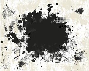Grunge background with halftone