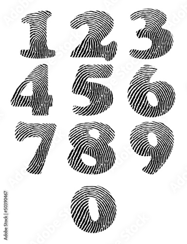 Finger print numbers