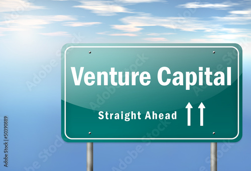 "Highway Signpost ""Venture Capital"""