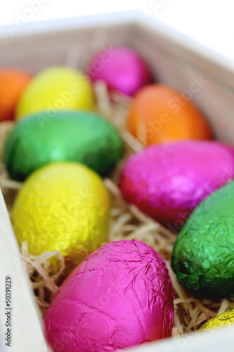 Easter Eggs in Wood Box 3