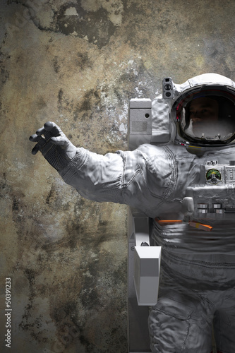 astronaut indoor pose 3d illustration