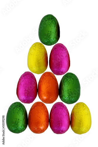 Easter Eggs Isolated 3