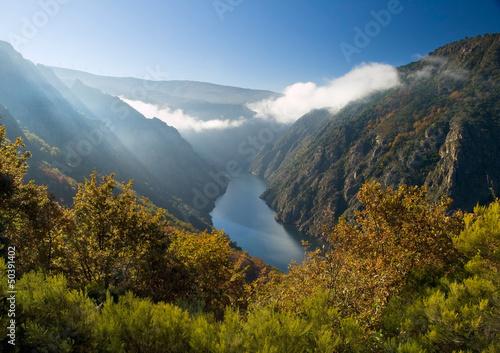 Sil river canyon, in Orense, Spain - 50391402