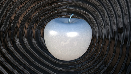 Power Liquid Metal Apple Ripple Shockwave