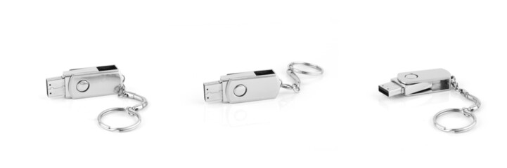 Silver usb flash storage drive