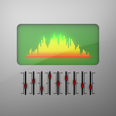 3D model of electronic equalizer