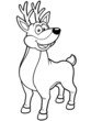 Vector illustration of Deer cartoon - Coloring book