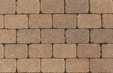 Solid color brick pathway pattern