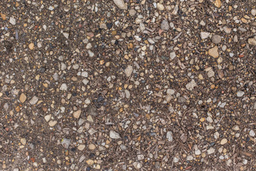 Park ground texture with rocks mulch and dirt