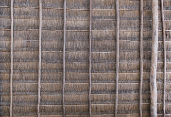 Tropical wooden rooftop texture