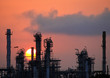 Oil refinery at sunrise