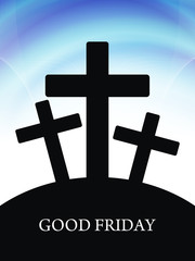 Elegant religious background for good friday.
