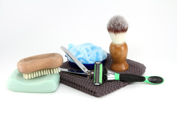 Mens Bathroom Toiletries Isolated