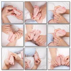 A few images of newborn babys foot