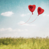 Heart balloon in  blue sky