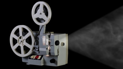 Retro cinema projector