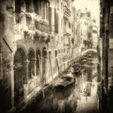 Fototapety Vintage image of Venetian canals