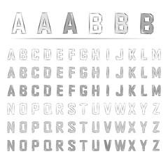 スケッチ アルファベット