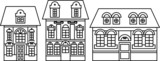 vector houses icons set