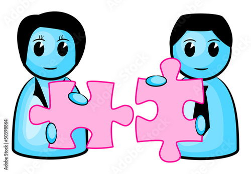 two matching puzzle pieces